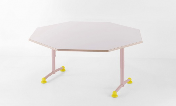 MANU TABLE OCTOGONALE REGLABLE STRATIFIE PP